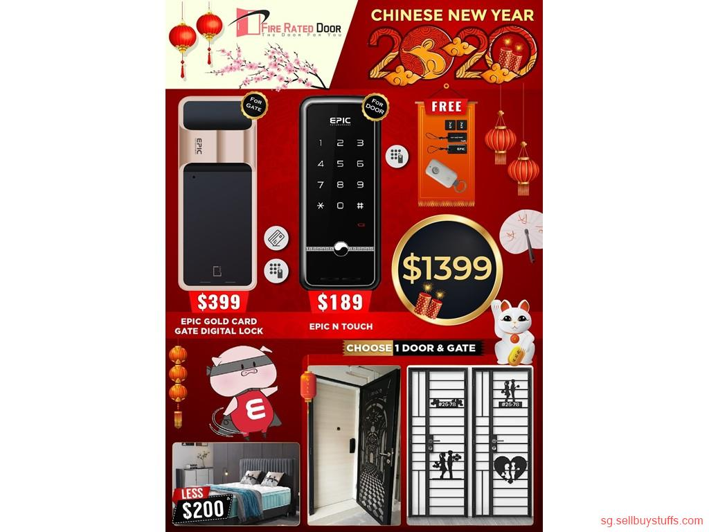 second hand/new: CHINESE NEW YEAR PROMOTIONS IN EPIC DIGITAL LOCK, GATE AND DOOR. GET ALL 3 AT AN OFFER PRICE OF $1399 NOW.CALL NOW 96177025