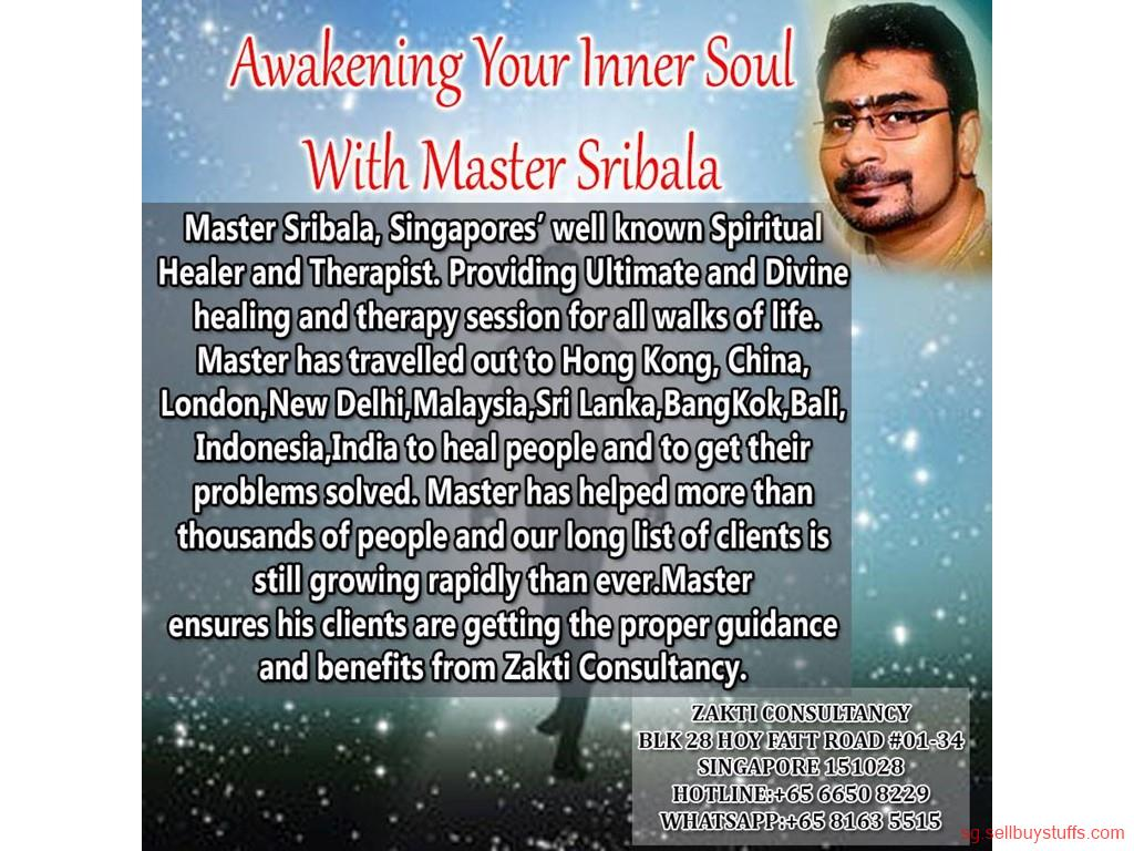 second hand/new: ZAKTI CONSULTANCY MASTER SRIBALA SINGAPORE WELL KNOWN SPIRITUAL HEALER AND THERAPIST