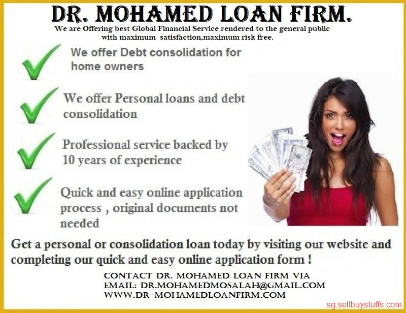second hand/new: Dr. Mohamed Loan Firm, Our goal is to assist with your immediate financial needs