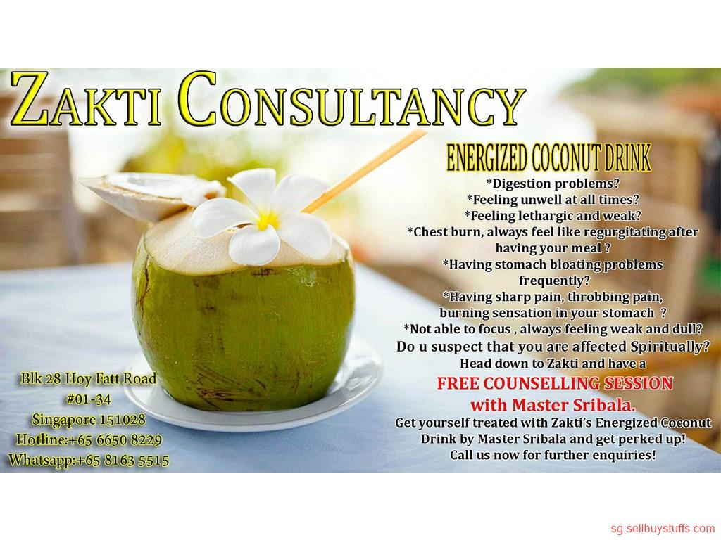 second hand/new: ZAKTI CONSULTANCY ENERGIZED COCONUT DRINK