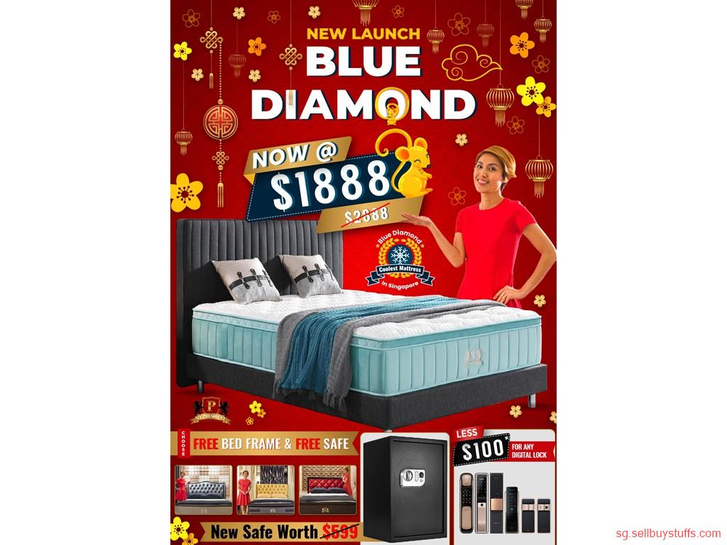 second hand/new: CHINESE NEW YEAR OFFERS FROM MY PRESIDENT MATTRESS, ON BLUE DIAMOND, THE COOLEST MATTRESS IN SINGAPORE, GET FREE BED FRAME & SAFE. CALL NOW 98440884
