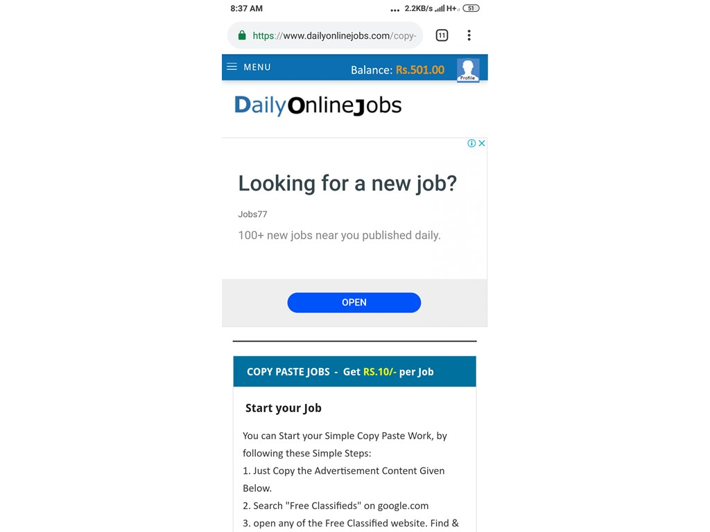 second hand/new: Daily online jobs