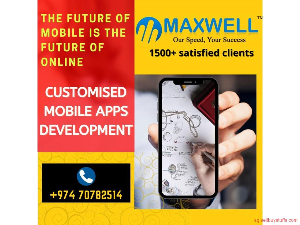 second hand/new: mobile app development company in qatar, maxwellglobalsoftware