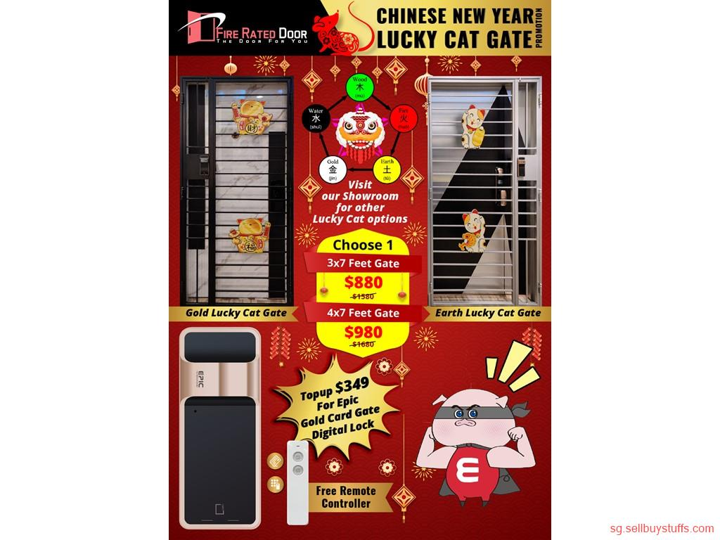 second hand/new: LUCKY CAT GATES FOR HDB, CHINESE NEW YEAR PROMOTIONAL SALE