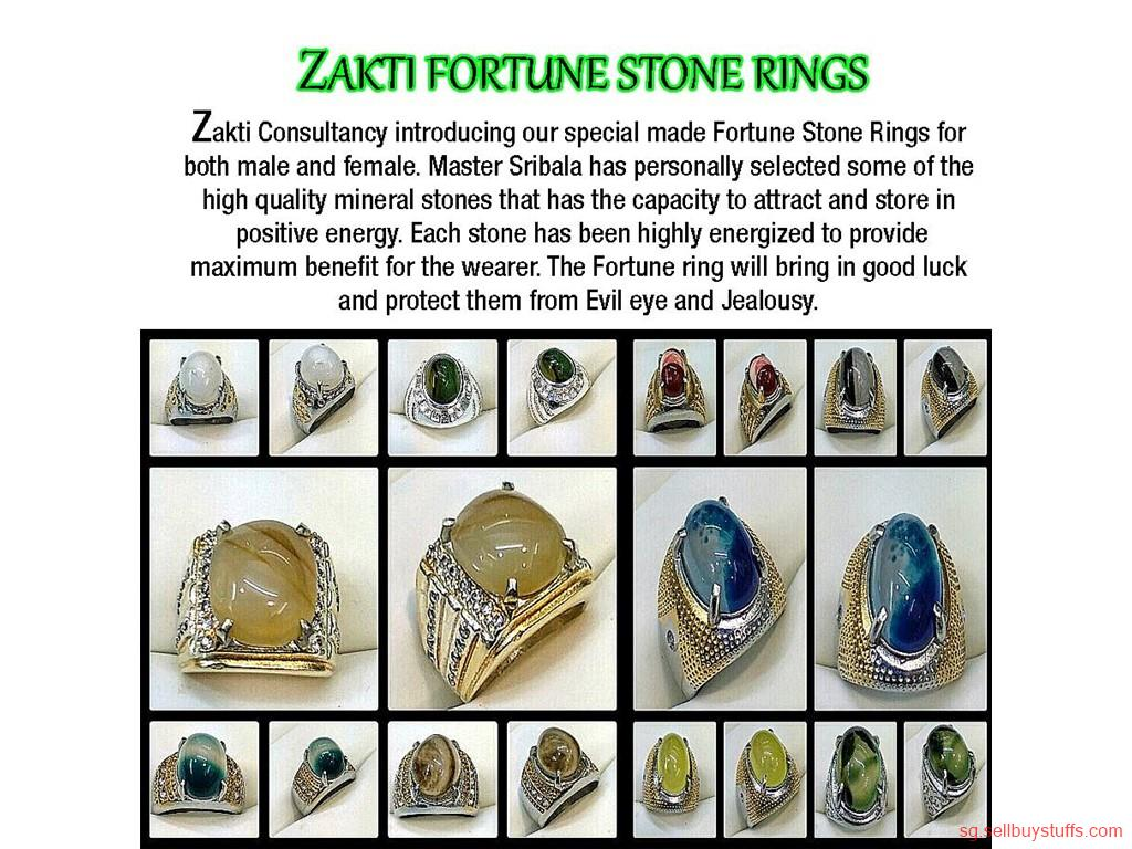 second hand/new: ZAKTI CONSULTANCY FORTUNE STONE RINGS