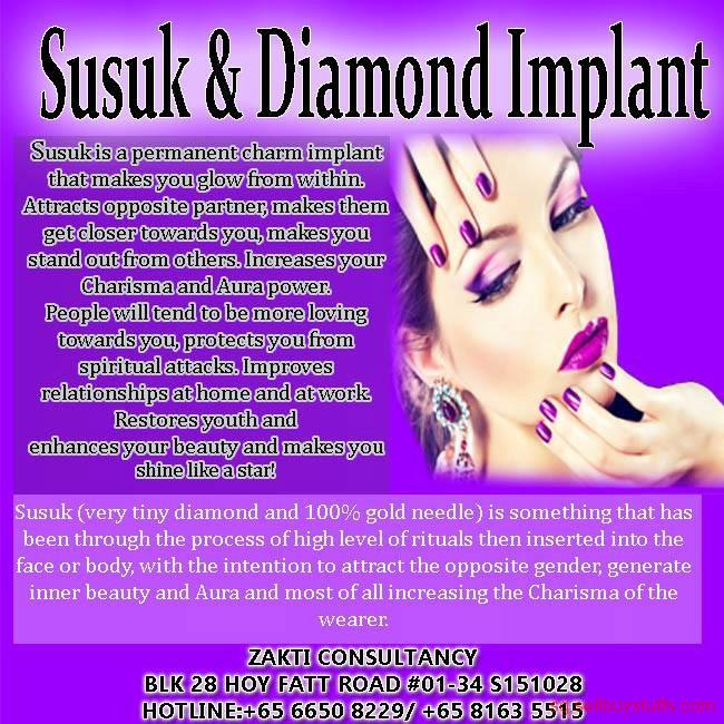 second hand/new: GOLD NEEDLE AND DIAMOND IMPLANT (SUSUK)